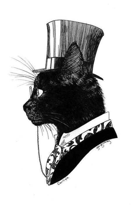 cat tattoo top hat black cat in a top hat tattoo inspiration pinterest
