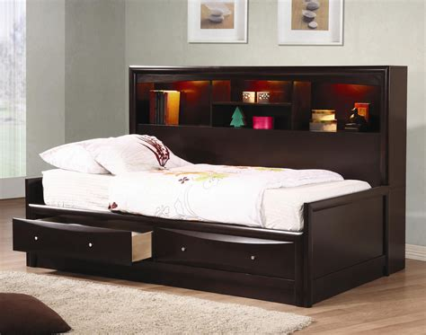 day bed with storage phoenix full daybed with bookcase storage drawers lowest