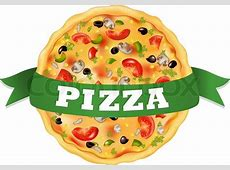 Pizza With Green Tape, Isolated On ... | Stock Vector ... Junk Food Background