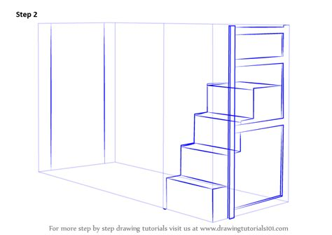 learn   draw  bunk bed furniture step  step drawing tutorials