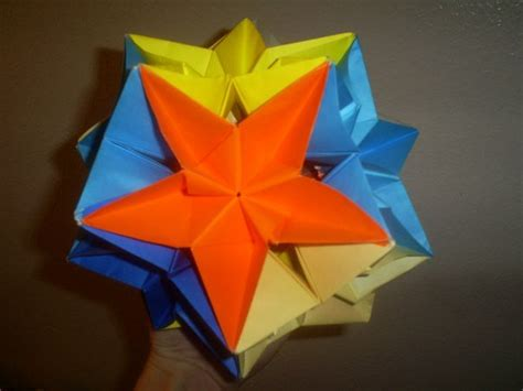 Complex Modular Origami - the complex dodecahedron modular origami by the of
