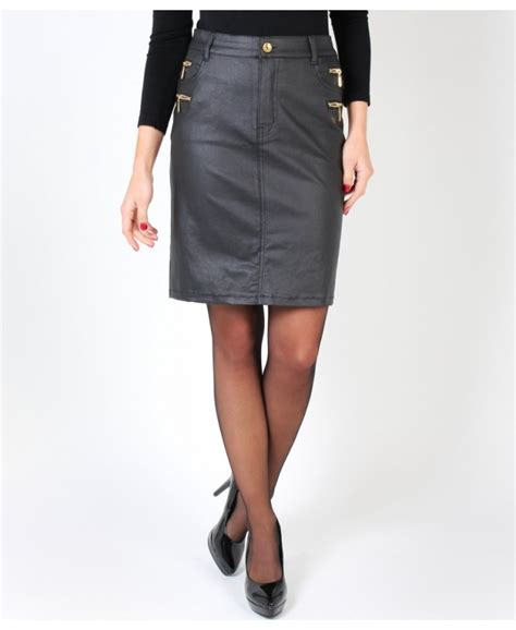 zip pu leather skirt krisp