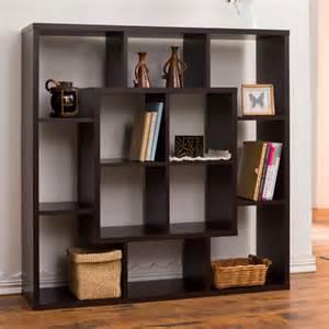 Bookshelf Room Divider Furniture Of America Aydan Modern Square Walnut Bookshelf Room Divider Contemporary Screens