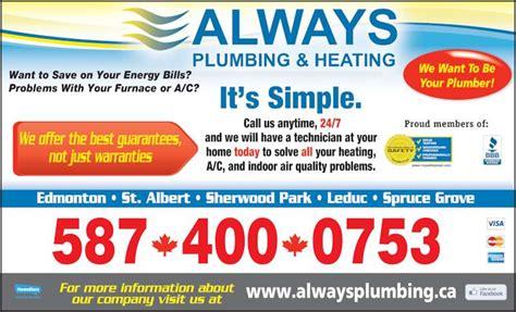 Always Plumbing And Heating by Always Plumbing Heating Edmonton Ab 200 17633 114