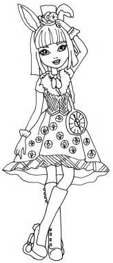 coloring page after high free printable after high coloring pages bunny blanc