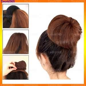 how to use a bun ring new hair bun ring donut shaper hair styler ebay