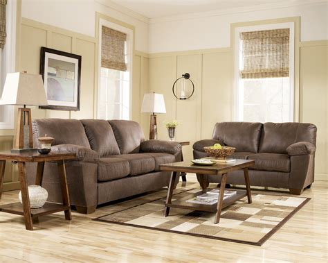 Amazon Living Room Furniture | amazon walnut living room set by ashley furniture 6750