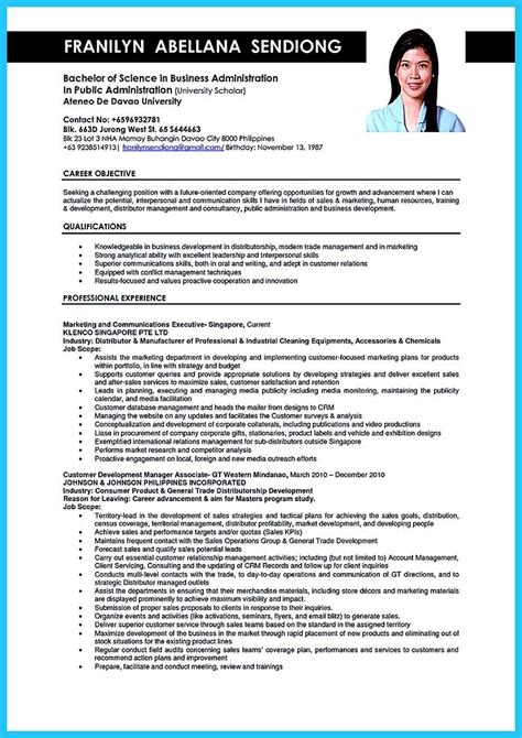 sle objectives in resume for business administration graduate resume templates sle businession bunch ideas of