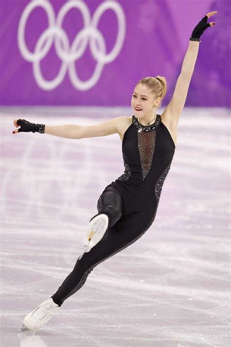 female olympic skater 70s latvian figure skater diana nikitina competes at the