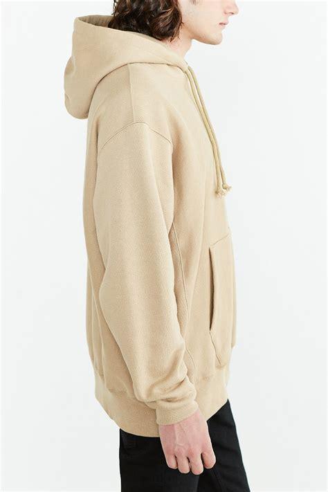 light brown pullover hoodie lyst chion icon weave hoodie sweatshirt in