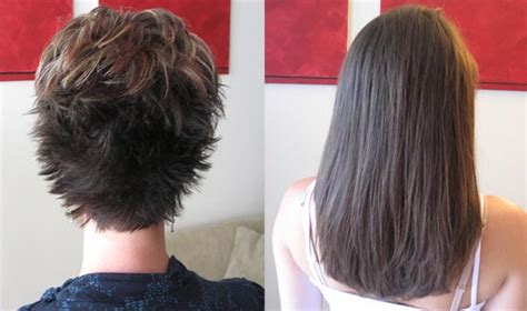 hairpieces to thicken short hairstyles short hair to long hair extensions before and after