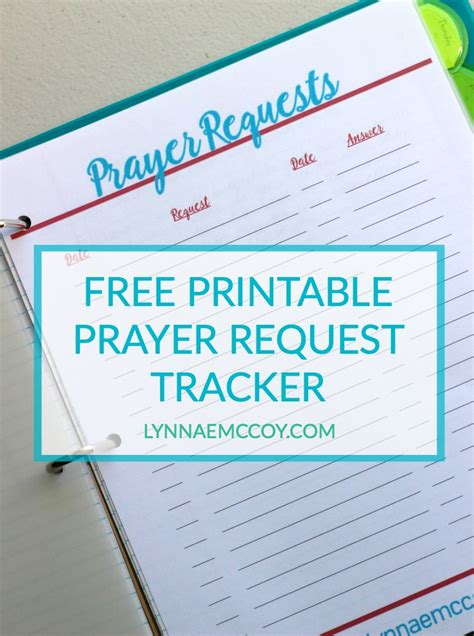 catholic prayer journal template free printable prayer request tracker