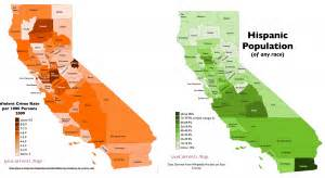 california crime rate map surprising patterns in geography of crime in california