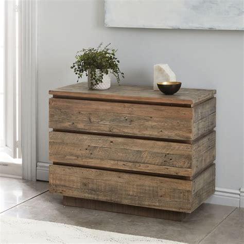 modern 3 drawer dresser west elm emmerson 174 modern reclaimed wood 3 drawer dresser stone