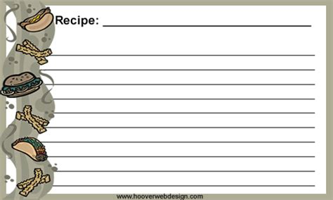 printable dog recipe cards new for 2018 free printable recipe cards to print