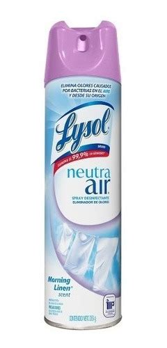 lysol neutra air spray eliminador olores morning scent   en mercado libre