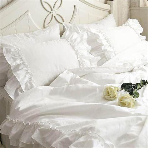 Ruffle White Duvet Cover lace bedding set