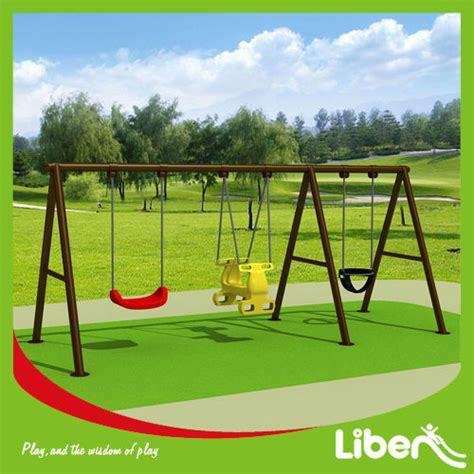 galvanized steel swing sets outdoor double seats swing sets for adults and kids le