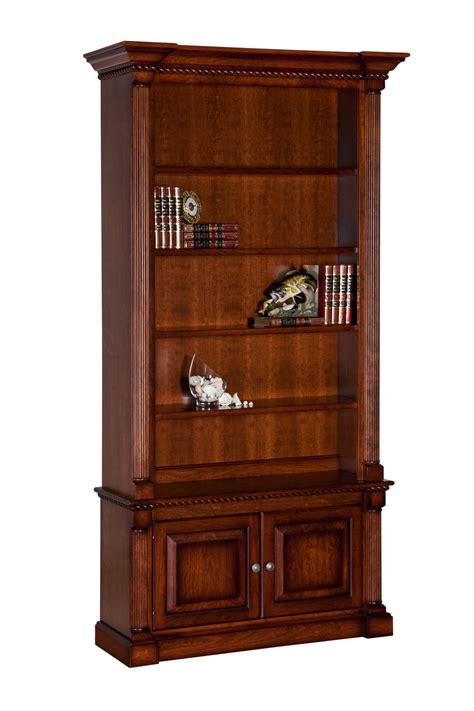 fluted column bookcase with 2 doors office furniture