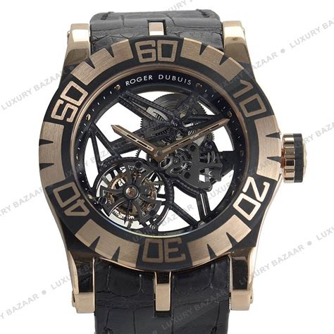 Roger Dubuis Silver Leather Matic For replica roger dubuis easy diver skeleton flying tourbillon rddbs 189 00