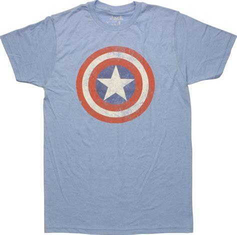 Baju Print Avenger Captain America captain america vintage shield t shirt