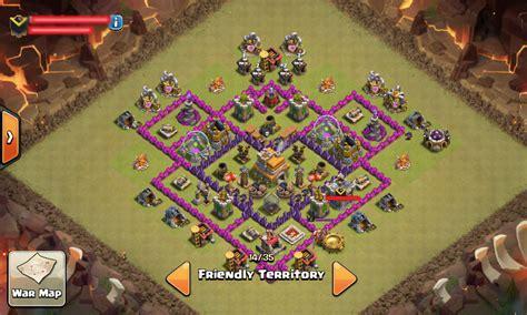 layout coc th 6 anti naga coc base war th 7 anti dragon naga terkuat menggunakan