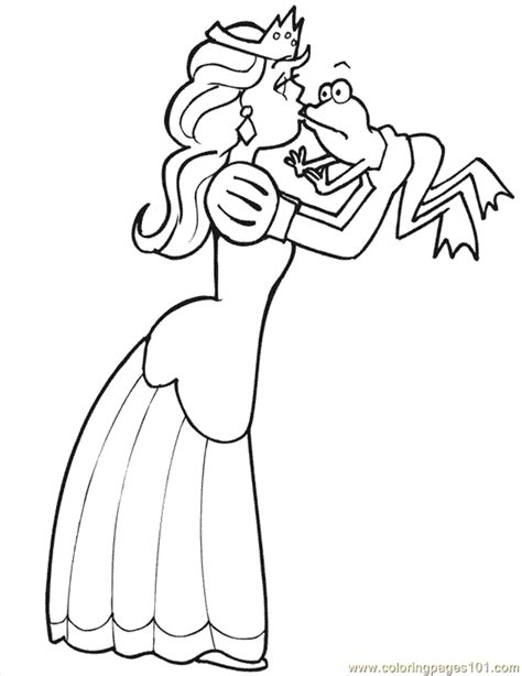 kissing frog coloring page princess and the frog coloring pages az coloring pages