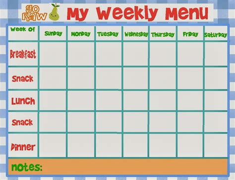 hp templates weekly menu template sadamatsu hp