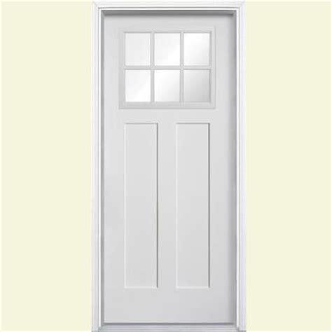 home depot exterior doors fiberglass masonite 36 in x 80 in craftsman 6 lite primed smooth