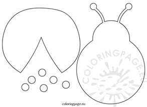 bug template ladybug template cut outs coloring page