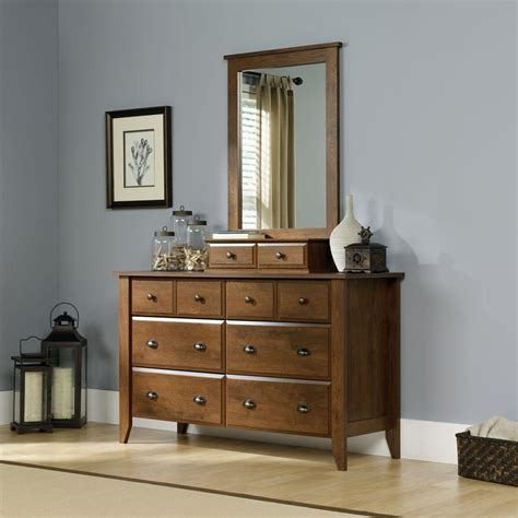 Sauder Shoal Creek 6 Drawer Dresser Oak by Sauder Shoal Creek Collection 42 3 In H X 27 4 In W