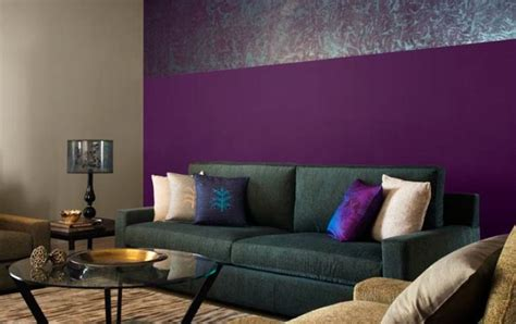 Purple Walls Living Room by Beautiful Living Room With Purple Walls And Neutral Grey