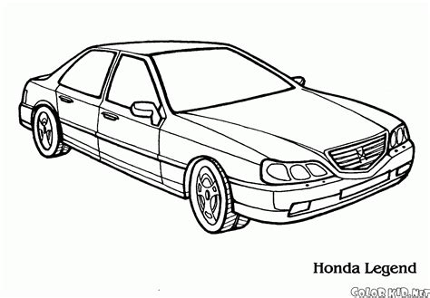 coloring pages honda cars coloring page honda legend