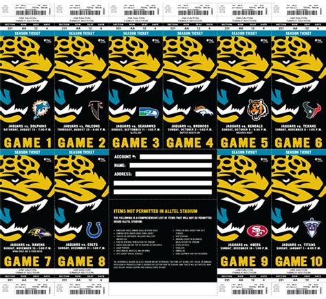 season tickets jacksonville jaguars on behance