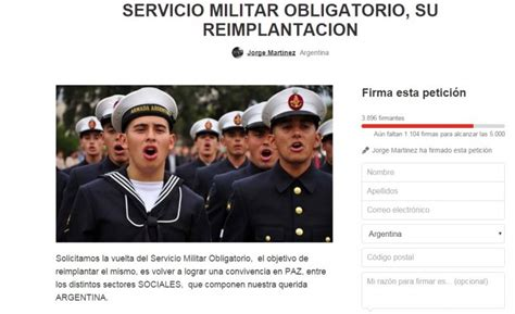servicio militar argentina 2016 lanzan ca 241 a para que macri reinstaure el servicio