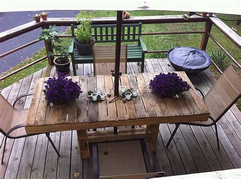 Patio Table From Pallets by Do It Yourself Furniture Ideas Studio Design Gallery