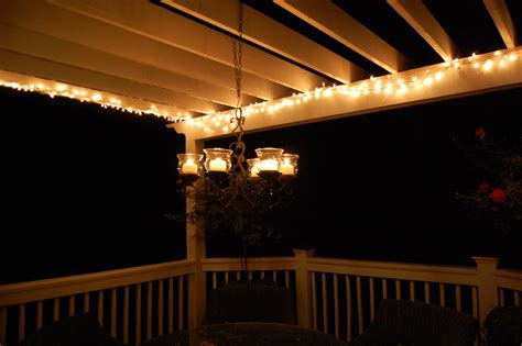 Repairing String Lights On The Pergola Lights On Pergola