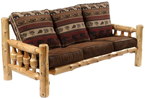 Cedar Log Sofa Log Living Room Furniture Rustic Couch