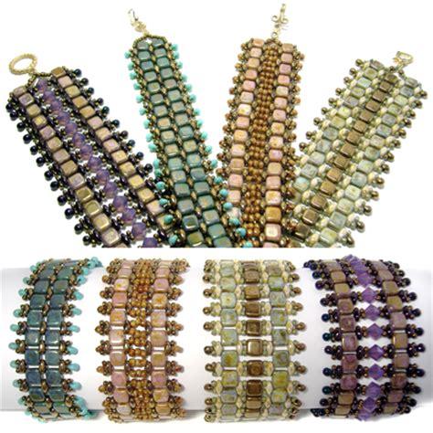 bead tile czechmates bands