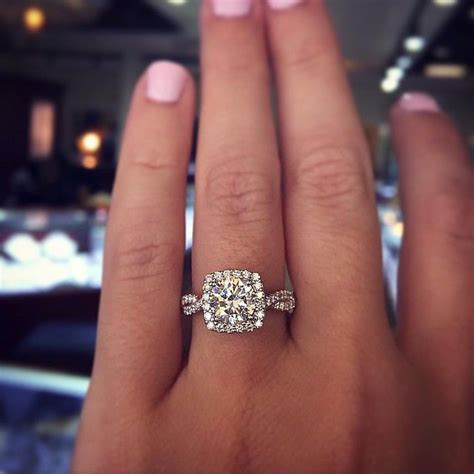 Our Favorite Cushion Cut Engagement Ring Settings   Halo