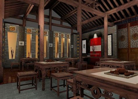chinese interior design chinese teahouse interior design