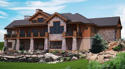 Mountain View Plans For A Hillside Home With Walk Out Lower | mountain view plans for a hillside home with walk out lower