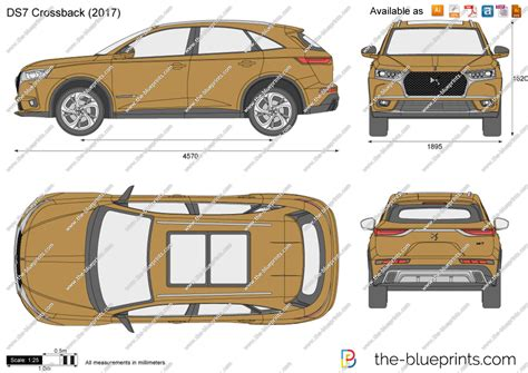 doodle draw ds7 crossback vector drawing