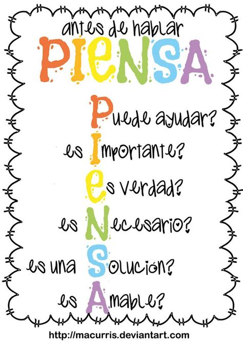 acrostico de la palabra en ingles espanol acr 243 stico perfecto para poner en la sala de clases piensa