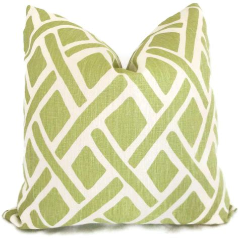 accent pillows for green kravet green trellis decorative pillow cover 18x18 20x20