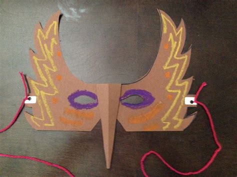 How To Make A Mask Out Of Paper For - how to make a paper bird mask