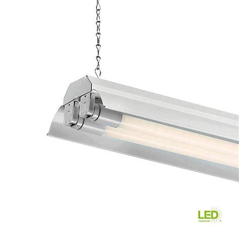 envirolite 4 ft 2 light white led shop light with t8 led