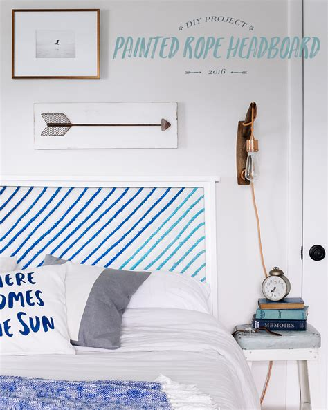 diy how to make a painted rope headboard bright bazaar