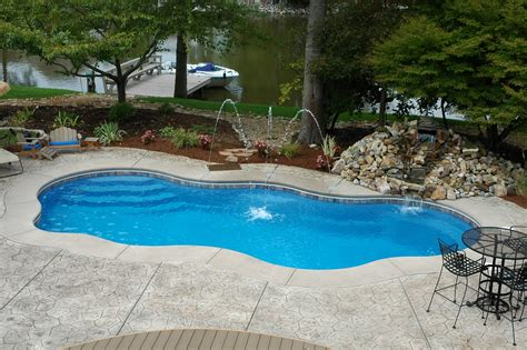 pool backyard designs modern fiberglass swimming pools