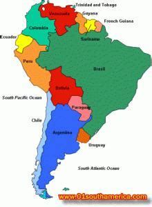 south america major cities map major cities and tourist destinations in south america
